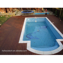 Luxury Villa Decoration Decking Design Engineered PE WPC Swim Pool Board Plat